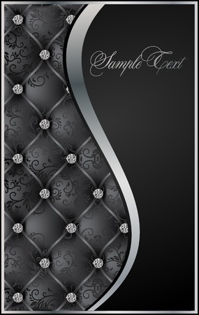 black luxury background vector Vector