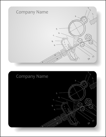 engineering design: business card for the engineer Illustration