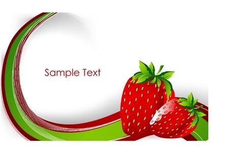 carta de postres: fondo creativo con la fresa Vectores