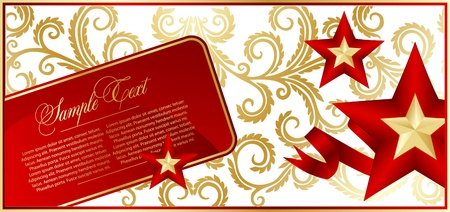 stalin: Elegant red background with star