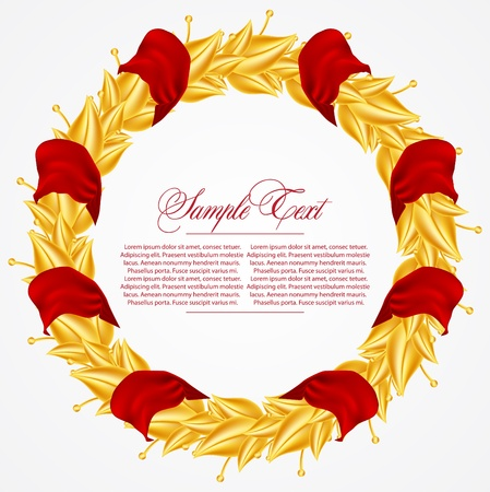 Laurel Wreath with ribbons Vector