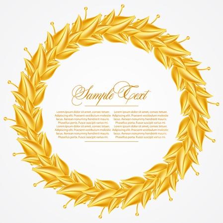 laurel branch: Laurel Wreath