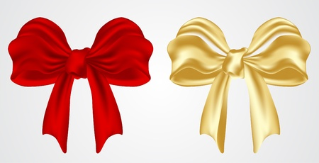 set of holiday bow Vector