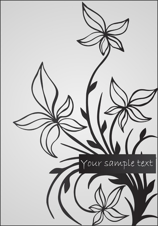 abstract floral illustration Stock Vector - 11120231