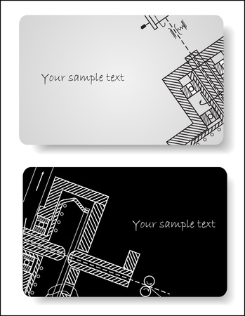 letterhead: abstract cards