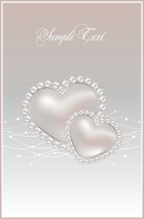 background with realistic vector pearls Stock Vector - 11120249
