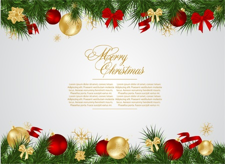 christmas backgrounds: detailed realistic  christmas frame