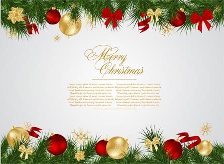 christmas deco: marco detallado realista Navidad