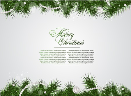 christmas deco: detailed realistic christmas  frame