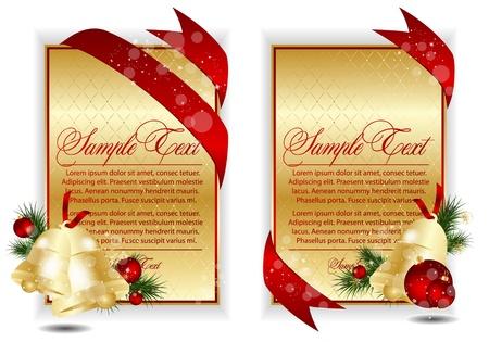 ゴールドのクリスマスのバナー 写真素材 - 11120261