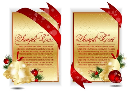 gold christmas banners Vector