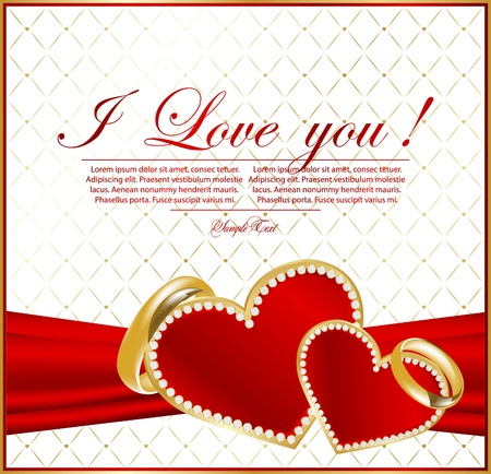 vow: abstract background for design with hearts