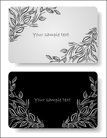 black branch: abstract floral cards