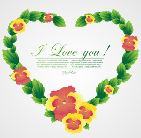 abstract floral heart Stock Vector - 11518237
