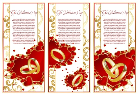nuptials: abstract set frame with hearts