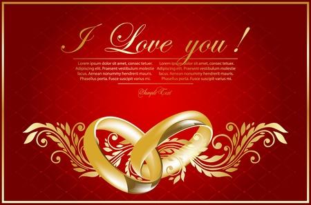 verlobung: floralen valentinskarte Illustration