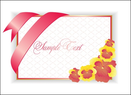 fixture: illustration with pink flower