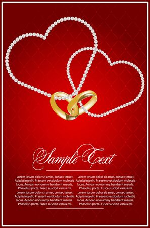 betrothal: illustration for design with hearts Illustration