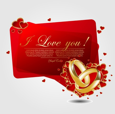 wedding band: romantic background with heart