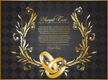 wedding ceremony: background for design with rings