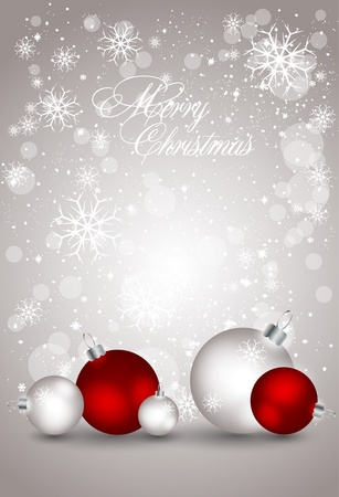 abstract greeting card with xmas balls Vector