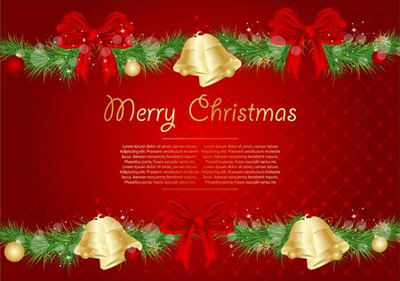Christmas red illustration. Vector