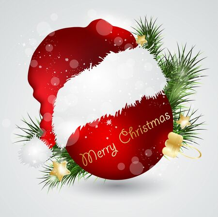 Christmas card with red ball Stock Vector - 14221382