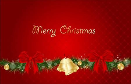Christmas red illustration. Stock Vector - 14221370