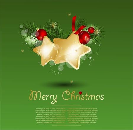 Christmas stars illustration.