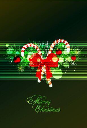 Green christmas illustration Stock Vector - 14221248