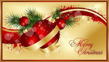 christmas deco: Happy New Year  design Illustration