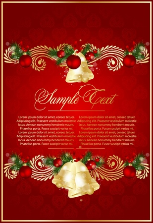 vintage xmas  background Vector