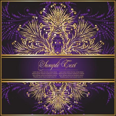 flower decoration:  violet decorative illustration Illustration