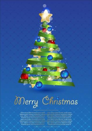 xmas tree: Christmas  vector illustration.