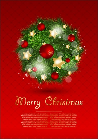Christmas vector illustration. Stock Vector - 16454973