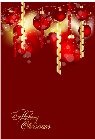 fire ball: Christmas background vector image Illustration