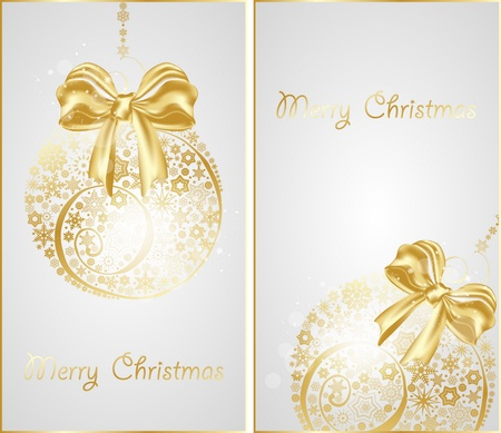 christmas gold  banners Vector