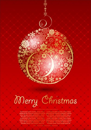 Christmas red vector illustration Stock Vector - 16454979