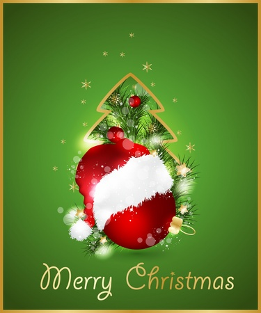 Merry Christmas Elegant background Vector