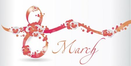 8. März card Vektorgrafik