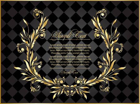 background with abstract gold composition for design Stock Vector - 18500468