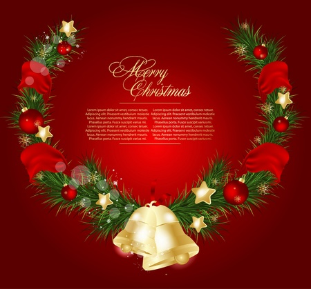 Christmas card background Stock Vector - 18975925
