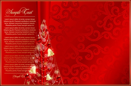 Elegant xmas background Stock Vector - 18975863