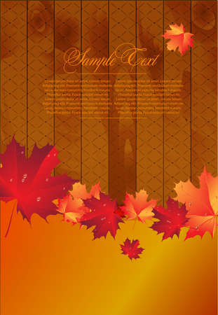 Autumn Background for design Vector