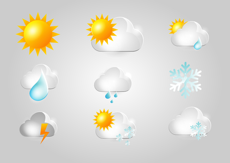 meteorology: Weather Icons set