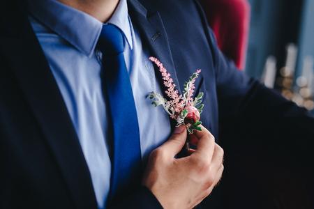 Wedding groom detail