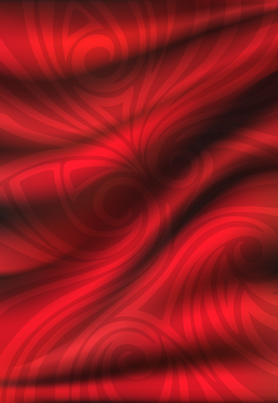 Red silk backgrounds. Drapery Textile Background, Vector Illustration.