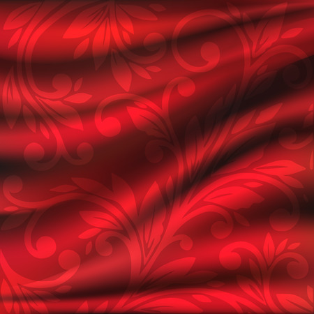 red silk backgrounds. Drapery Textile Background, Vector Illustration. eps10