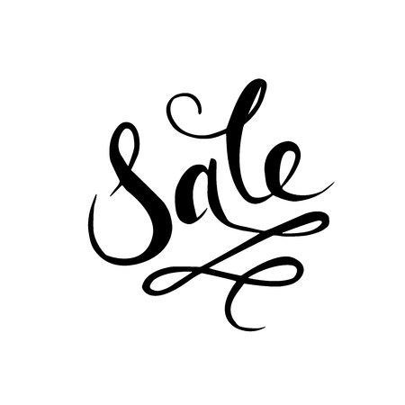 Sale Hand drawn calligraphy and brush pen lettering.