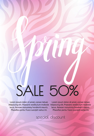Spring Sale Banner. Vector illustration template.banners.Wallpaper.flyers invitation posters